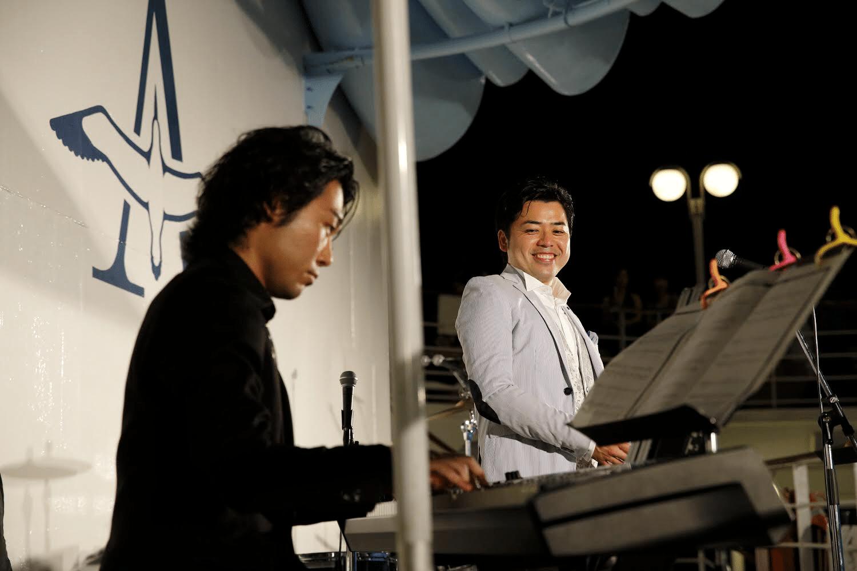 船の上での演奏。gallery by 高橋 敦史。@飛鳥Ⅱ